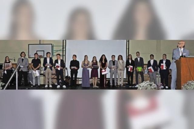 Ausgezeichnete Abiturientinnen und Abiturienten