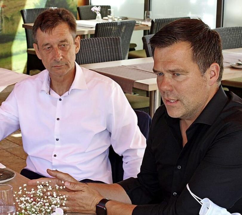 Christoph Hoffman und Gero Hocker (rechts)  | Foto: Rolf Reißmann