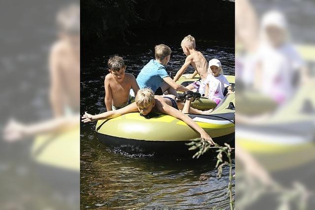 Spiel, Spaß und Schlauchbootfahren