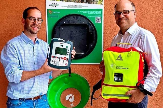 Auch in Freiburg-Günterstal ist nun ein Defibrillator jederzeit zugänglich