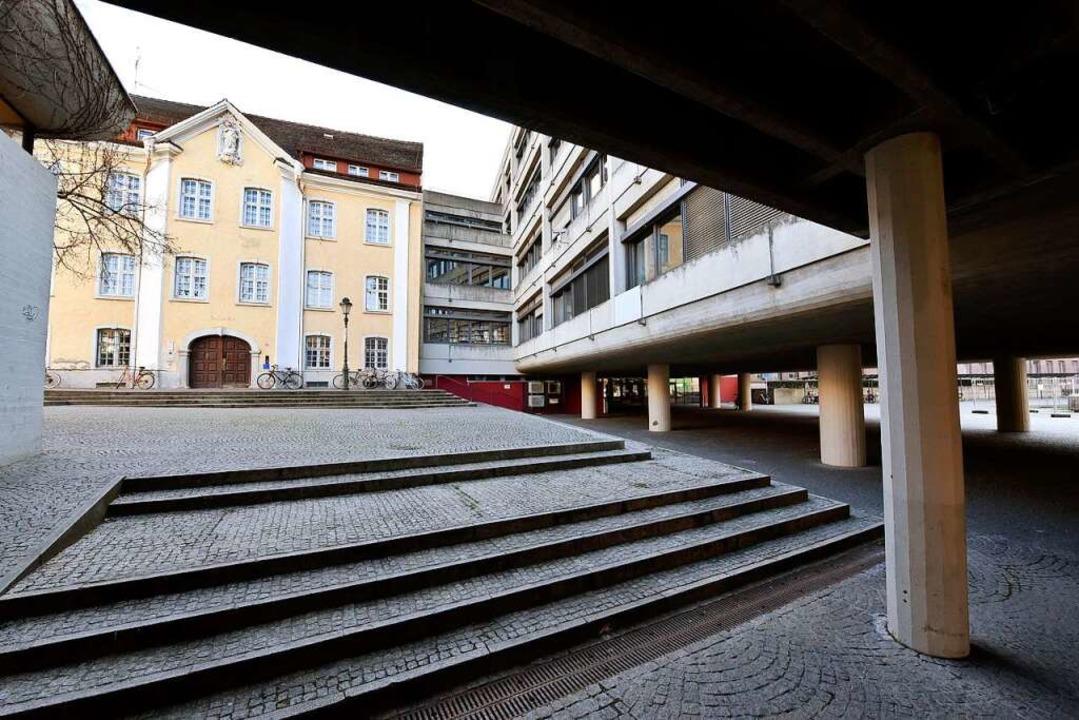 Seit anderthalb Jahren herrscht auf dem Campus kein bis wenig Leben.  | Foto: Thomas Kunz