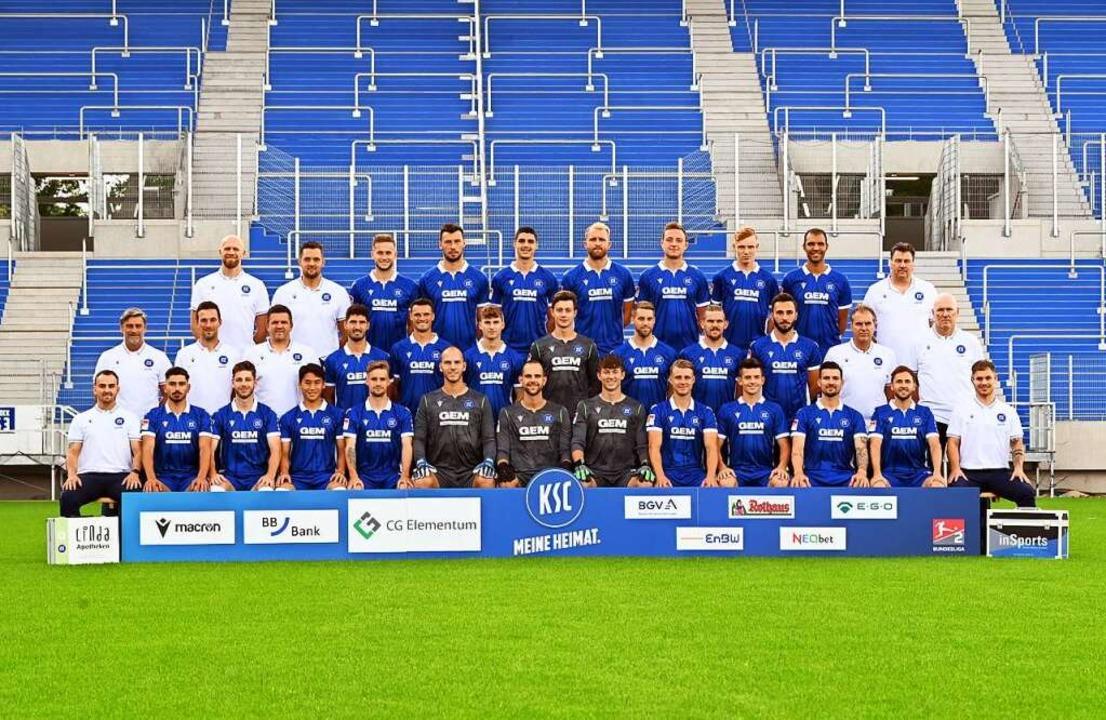 Der KSC-Kader der Saison 21/22.  | Foto: Uli Deck (dpa)