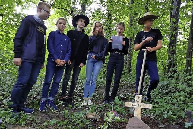 In Freiburg gab's eine Beerdigung für die Klassenpalme