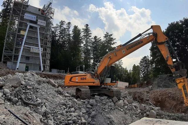 Fehlerhafte Teile der Pannen-Schanze in Hinterzarten wieder abgerissen