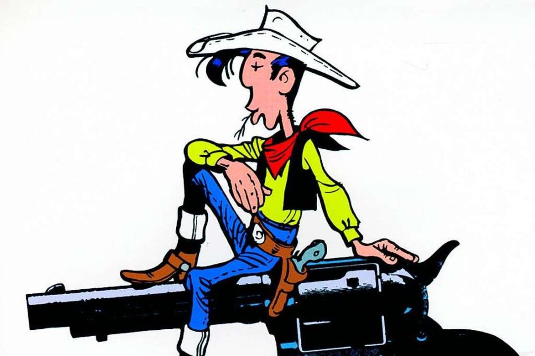 Lucky Luke, mal nicht auf seinem treue...75 Jahren schneller als sein Schatten.  | Foto: S.A. Morris