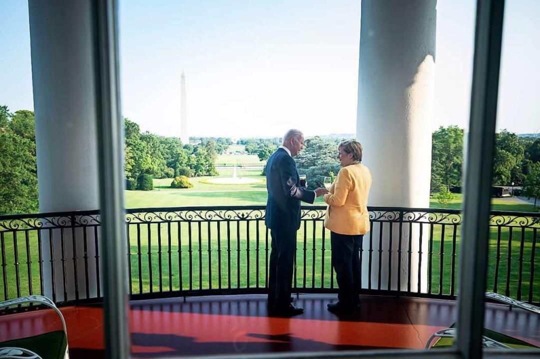 Fädelte den Deal vergangene Woche bei ...ela Merkel mit US-Präsident Joe Biden.  | Foto: Guido Bergmann