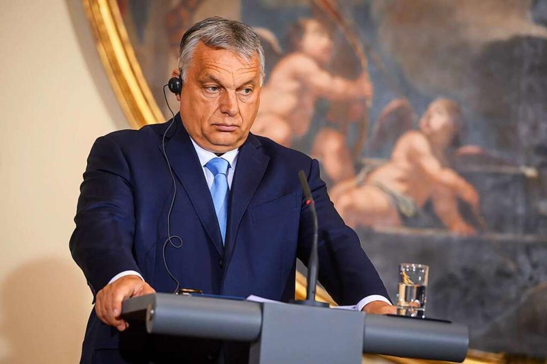 Will über sein Minderheiten-Gesetz das Volk abstimmen lassen: Viktor Orban    Foto: Nebojsa Tejic (dpa)