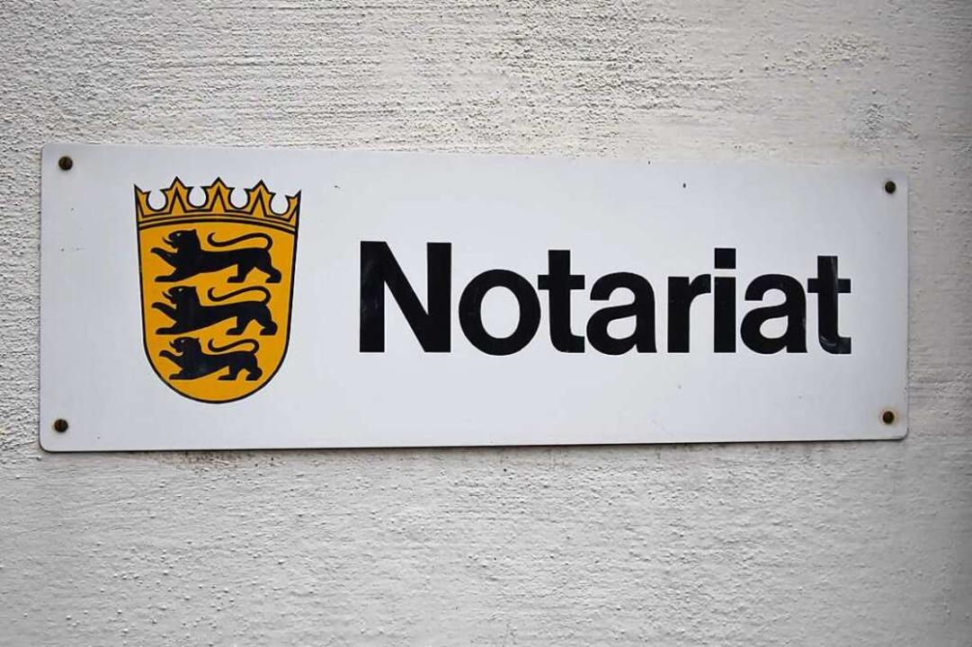 Gegen die Schaffung der Notarstelle in...andesgericht in Stuttgart eingegangen.    Foto: Jonas Hirt