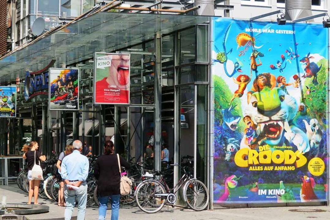 Das Lörracher Kino Cineplex ändert für...r einen großen Arbeitsaufwand in Kauf.  | Foto: Peter Gerigk