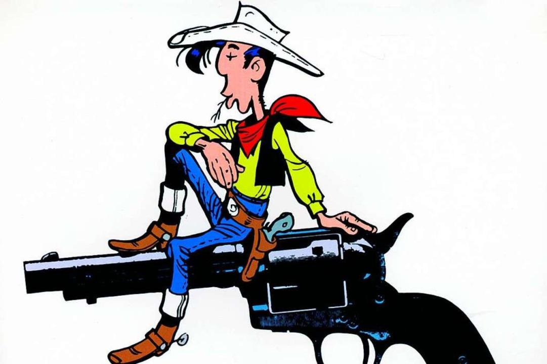 Lucky Luke, der die Pistole schneller zieht als sein Schatten    Foto: S.A. Morris