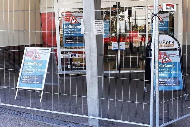 Rewe-Markt in Lörrach wird wohl mehrere Tage geschlossen bleiben