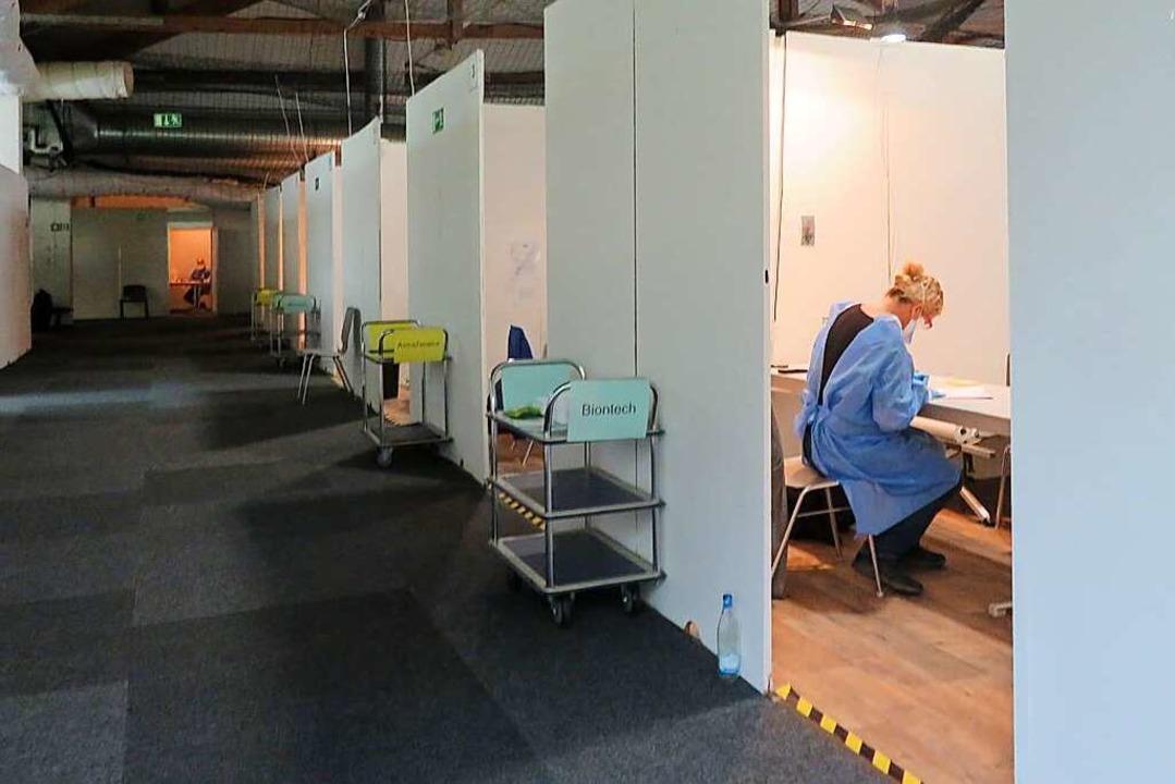 Das Kreisimpfzentrum in Lörrach wird Ende September schließen.    Foto: Peter Gerigk