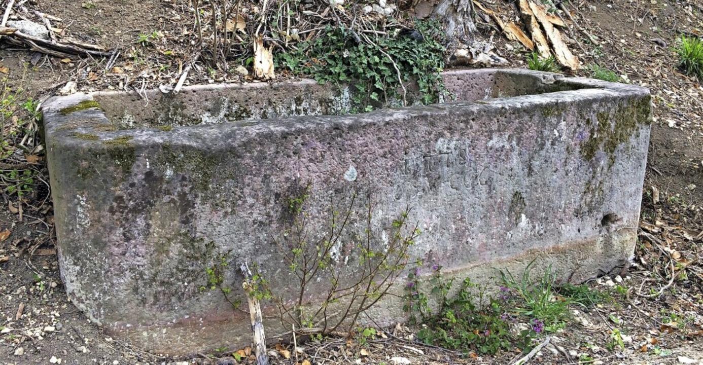 Dieser historische Brunnen soll vor de... – wenn er geborgen werden kann.    Foto: Peter Gerigk