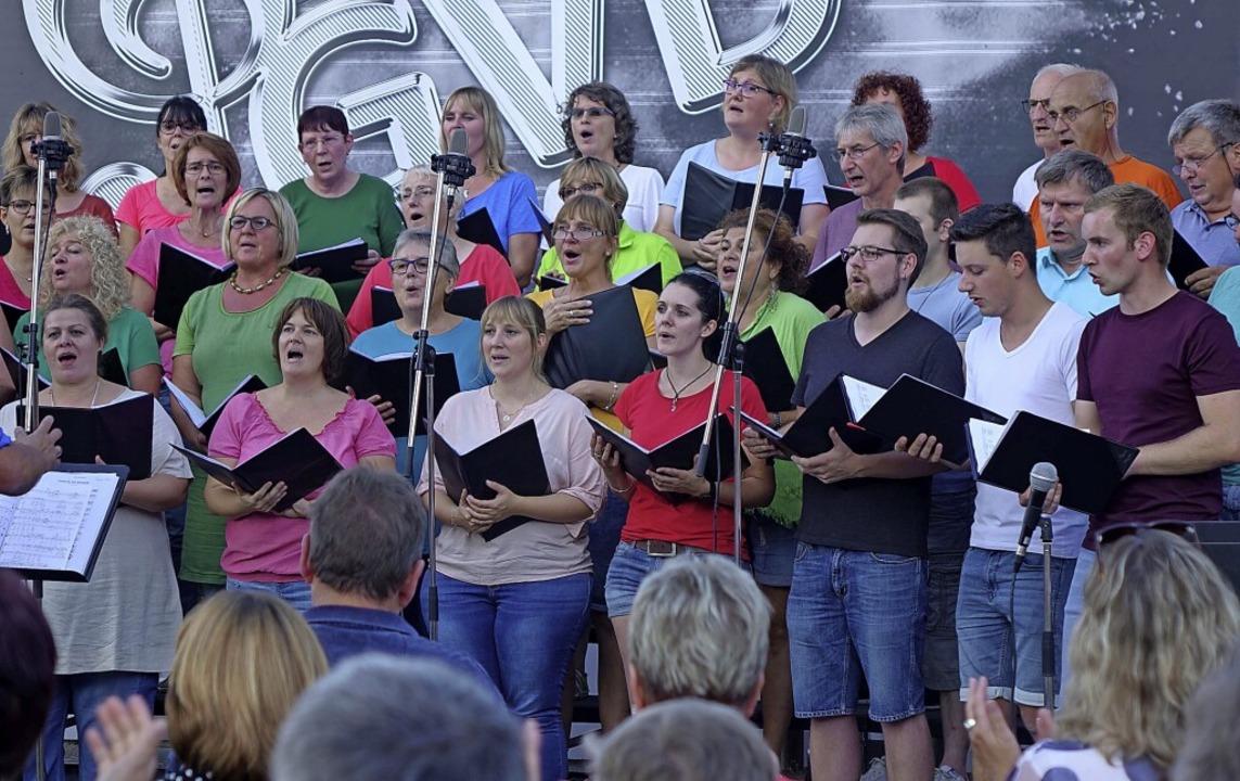 Das Open Air Konzert im Sommer 2019 wa...te des Gesangvereins vor der Pandemie.  | Foto: Roswitha Frey