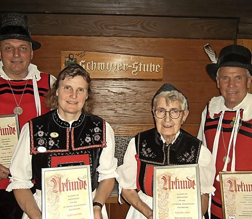 Geehrt wurden die aktiven Mitglieder (...pitz,  Jasmin Beine und Bettina Urich   | Foto: Ernst Brugger