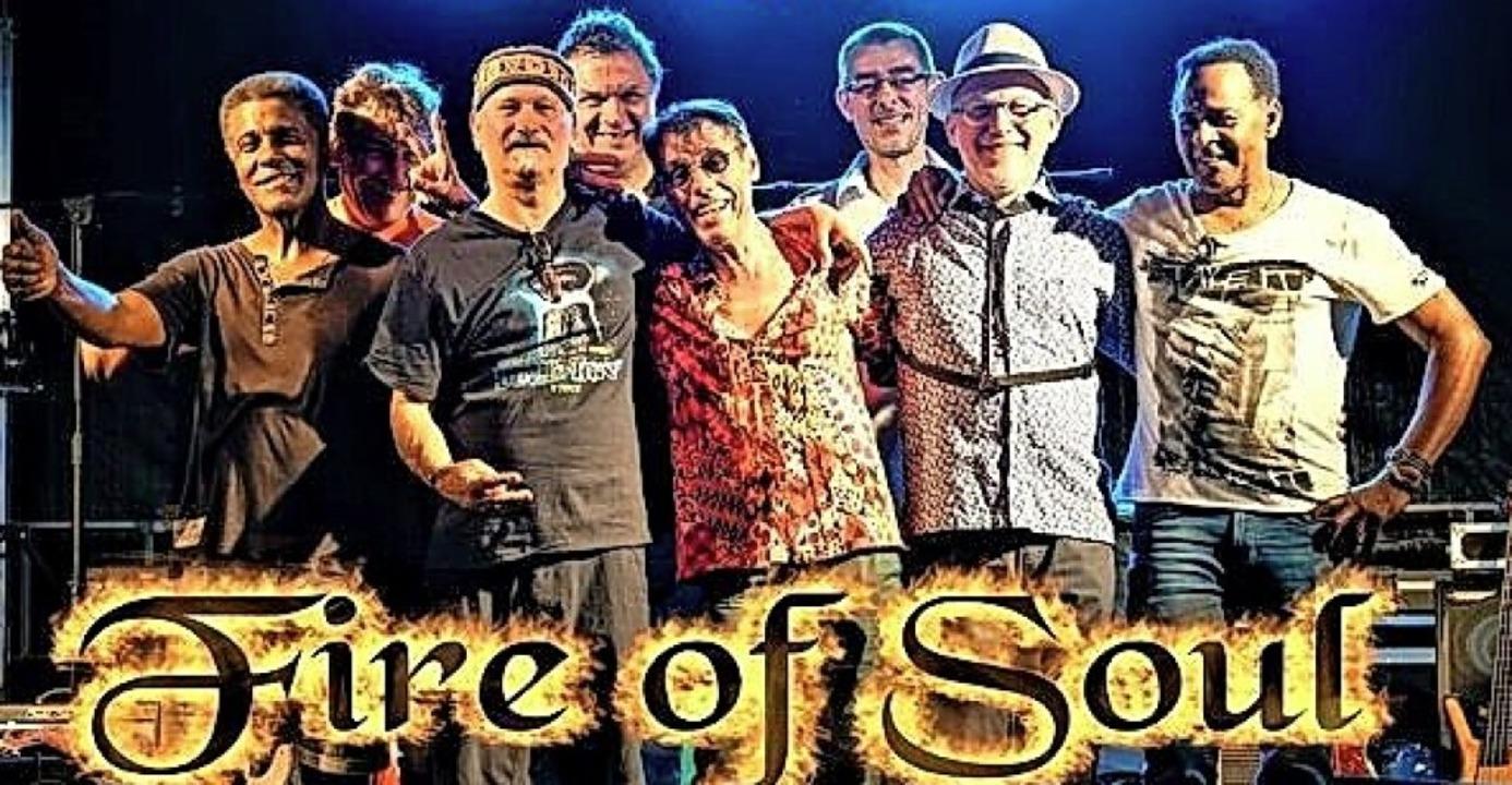 Die Freiburger Band Fire of Soul unterhält im Wehrer Ludingarten.  | Foto: Kulturamt Wehr