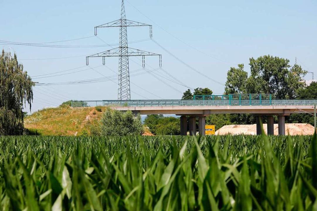 Die B-31-West-Brücke in Gottenheim endet derzeit im Nichts.  | Foto: Hubert Gemmert