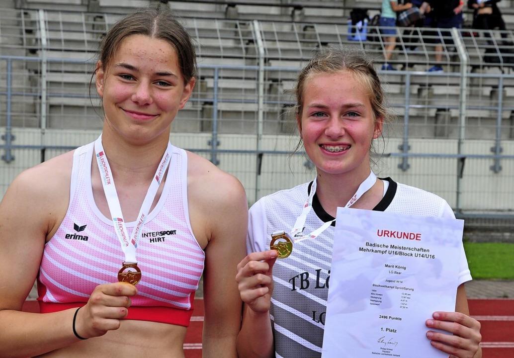 Zweimal Gold: Luise Mattisek (links) u...rit König sind badische Meisterinnen.   | Foto: Ottmar Heiler