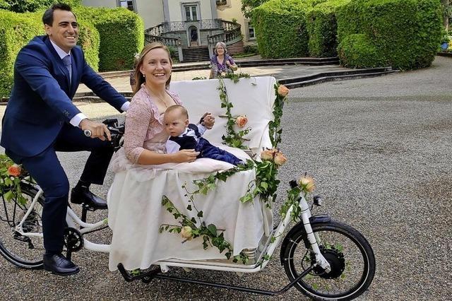 Zur Hochzeit mit dem Lastenfahrrad