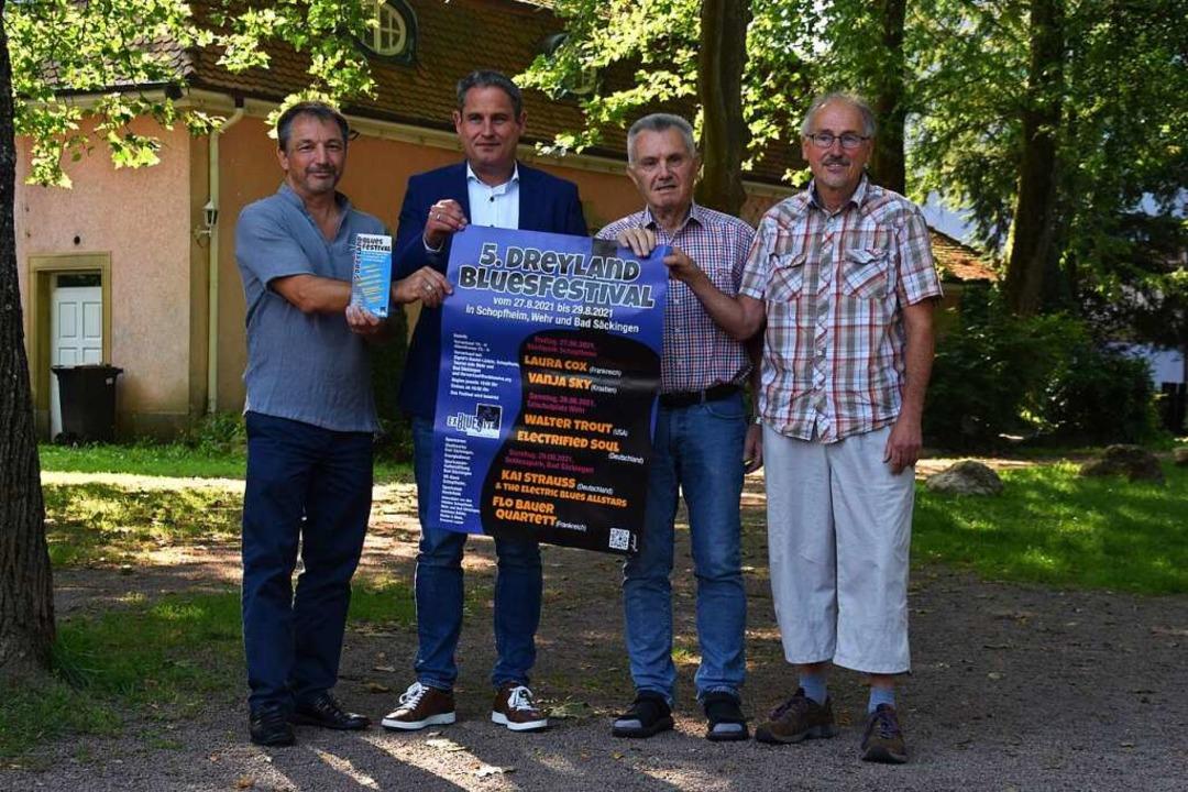 Freuen sich auf das Festival (von link...scher, Klaus Fleck und Manfred Bockey.    Foto: Nicolai Kapitz