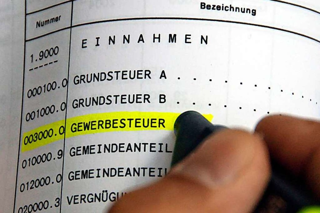 Die Stadt Lörrach verlangt künftig höhere Gewerbe- und Grundsteuern.  | Foto: Siegfried Gollrad