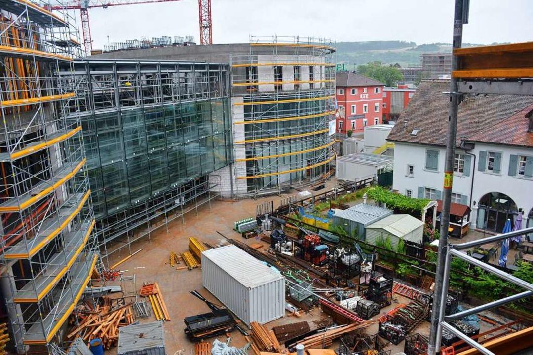 """Beim Blick von oben wird schon der Pla...kanten """"Rebhus"""" erkennbar.    Foto: Hannes Lauber"""