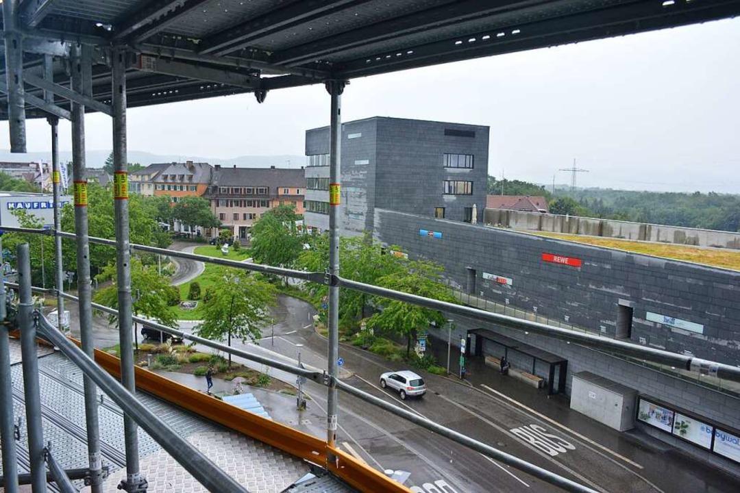 Ein Besuch auf der Baustelle der Dreiländergalerie    Foto: Hannes Lauber