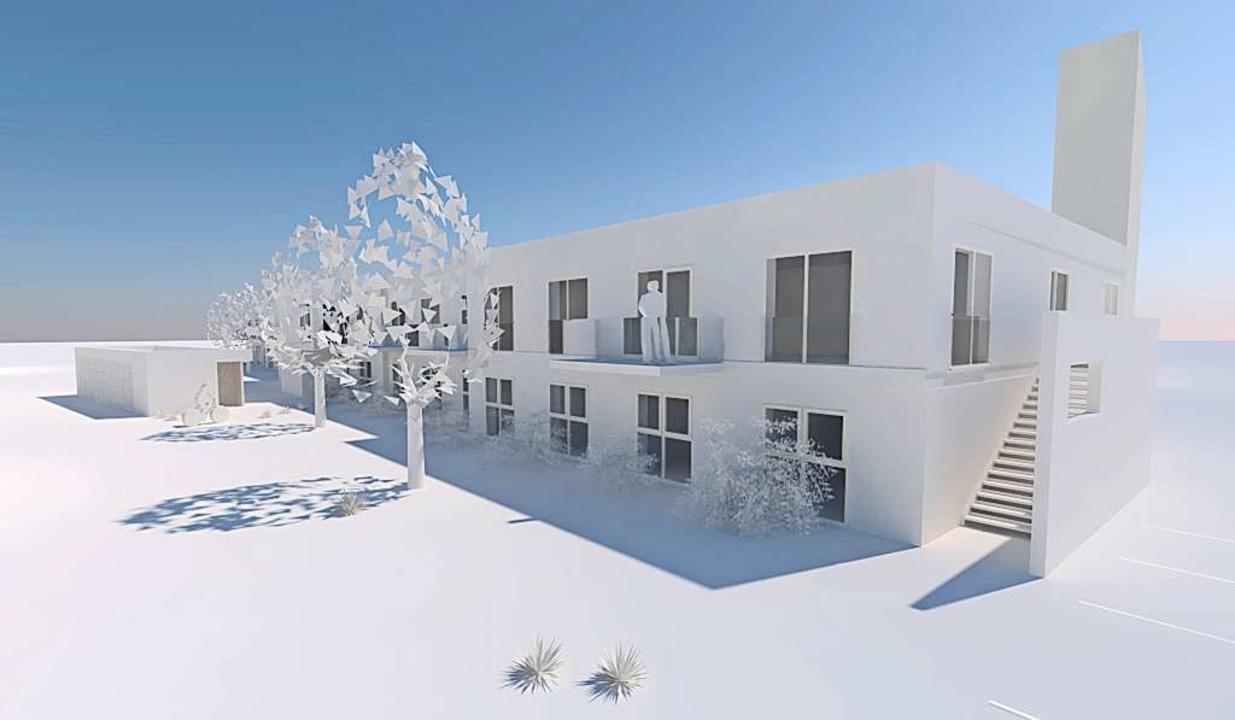 Das Modell der Anlage im Ortszentrum    Foto: Architekt
