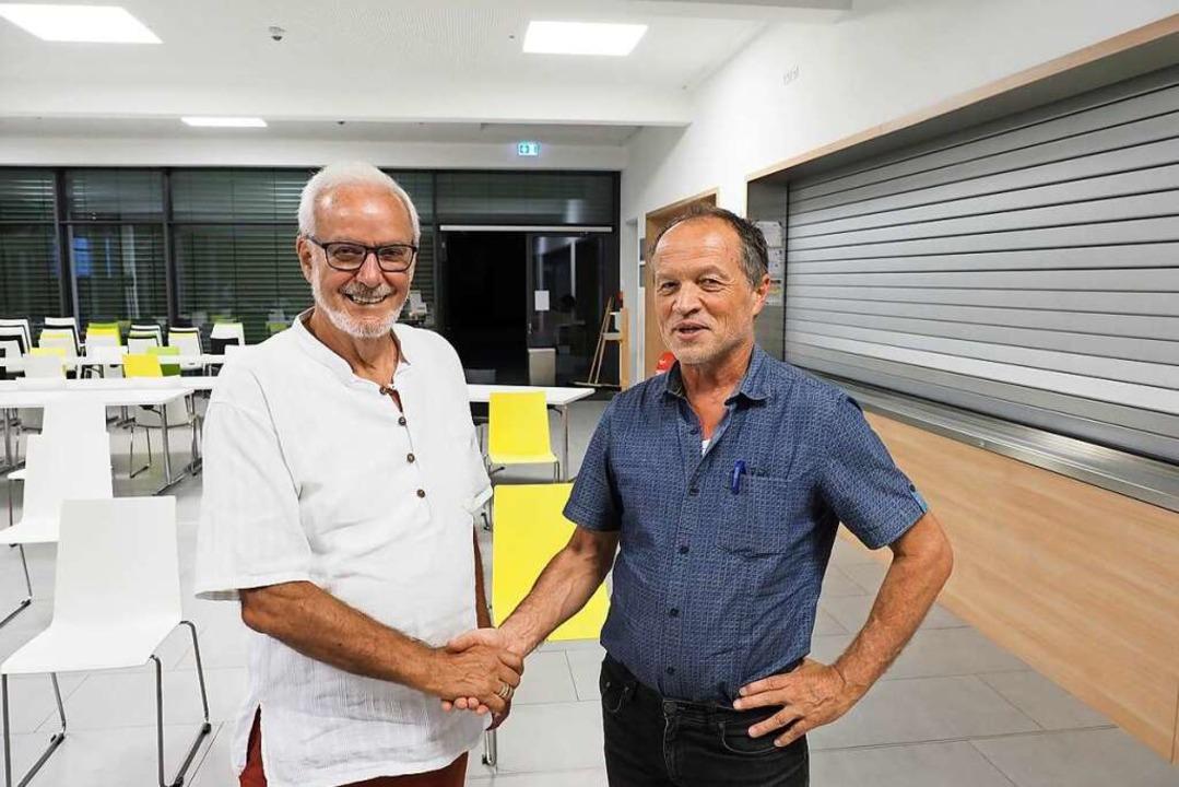 Ernst Schilling (links) wird Ehrenvors... BEG, für ihn übernimmt Georg Binkert.    Foto: Michael Haberer