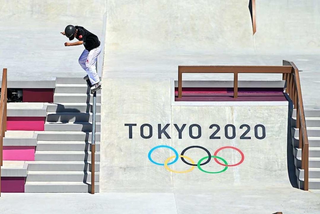 Skateboarding ist in diesem Jahr erstmals olympisch.    Foto: Xue Yubin (dpa)