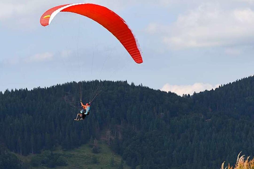 Der Konflikt zwischen dem Naturschutz ...schirmflieger in Fröhnd ist beigelegt.  | Foto: Jonas Hirt