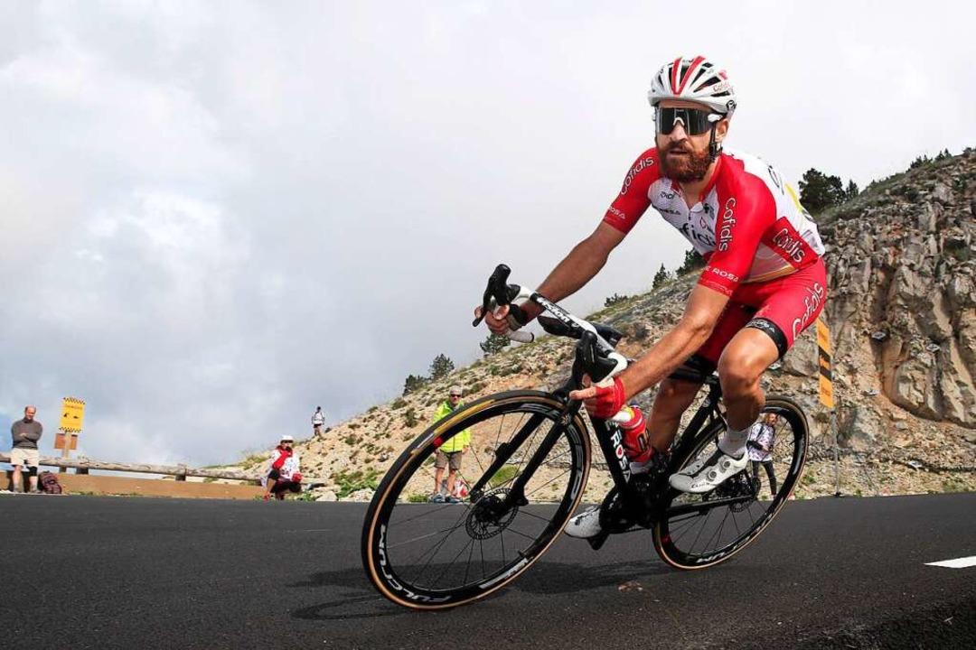 Simon Geschke während der 11. Etappe der Tour de France.  | Foto: Roth (dpa)