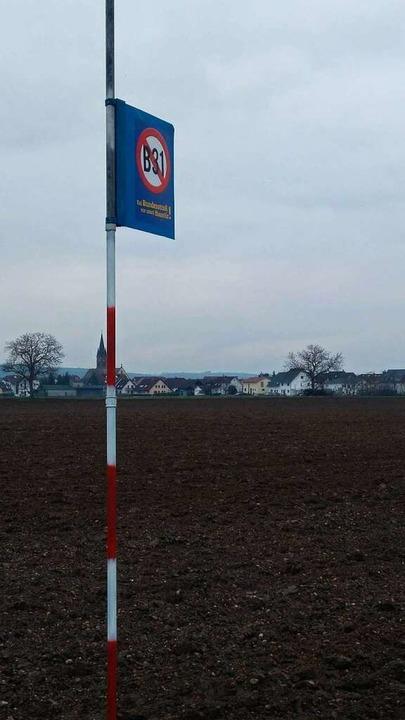 Die Trassenvariante 7 führt direkt an Gündlingen vorbei.  | Foto: Daniel Schächtele