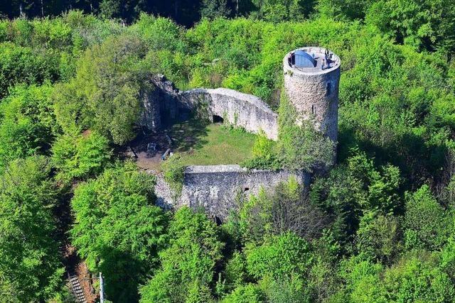 Die Burgruine Sausenburg wird am Wochenende zur