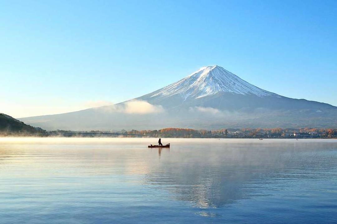 Der Fuji ist für die Japaner  ein heil...rach im Jahr 1707 zum letzten Mal aus.    Foto: Trusjom (stock.adobe.com)