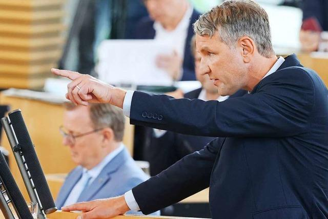 AfD inszeniert Misstrauensvotum in Thüringen als Symbol