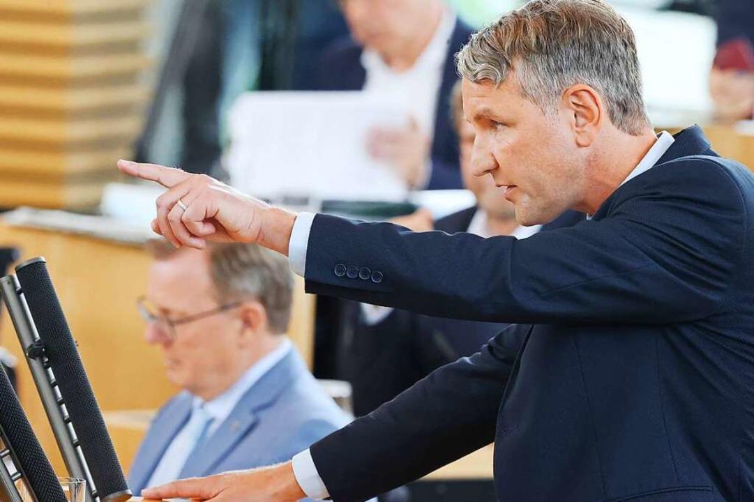 Björn Hocke macht sich keine Hoffnungen, gewählt zu werden.     Foto: Bodo Schackow (dpa)