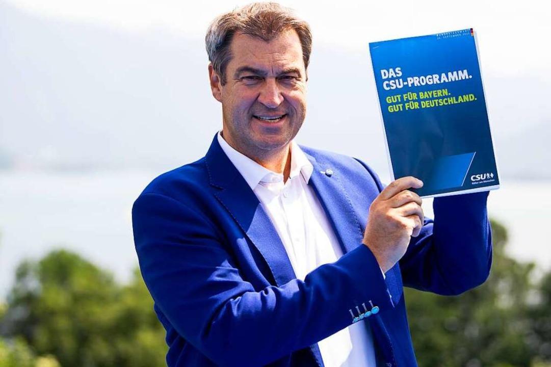Markus Söder, Ministerpräsident des Freistaats Bayern und Vorsitzender der CSU  | Foto: Sven Hoppe (dpa)