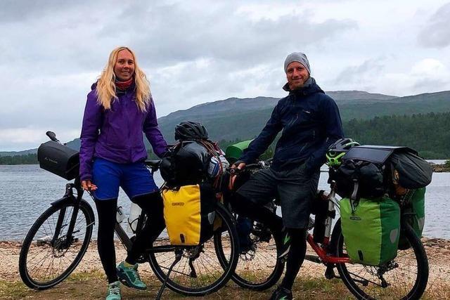 Timo Berger aus Friesenheim fährt mit dem Fahrrad bis zum Nordkap