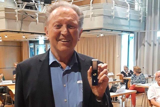 Paul Renz sitzt seit 50 Jahren in Rheinfelden im Gemeinderat
