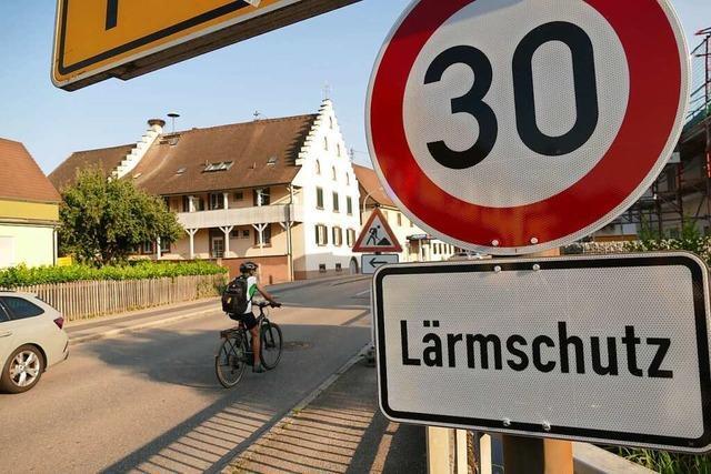 Tempo 30 entschleunigt den Verkehr auf der B3 in Eimeldingen merklich