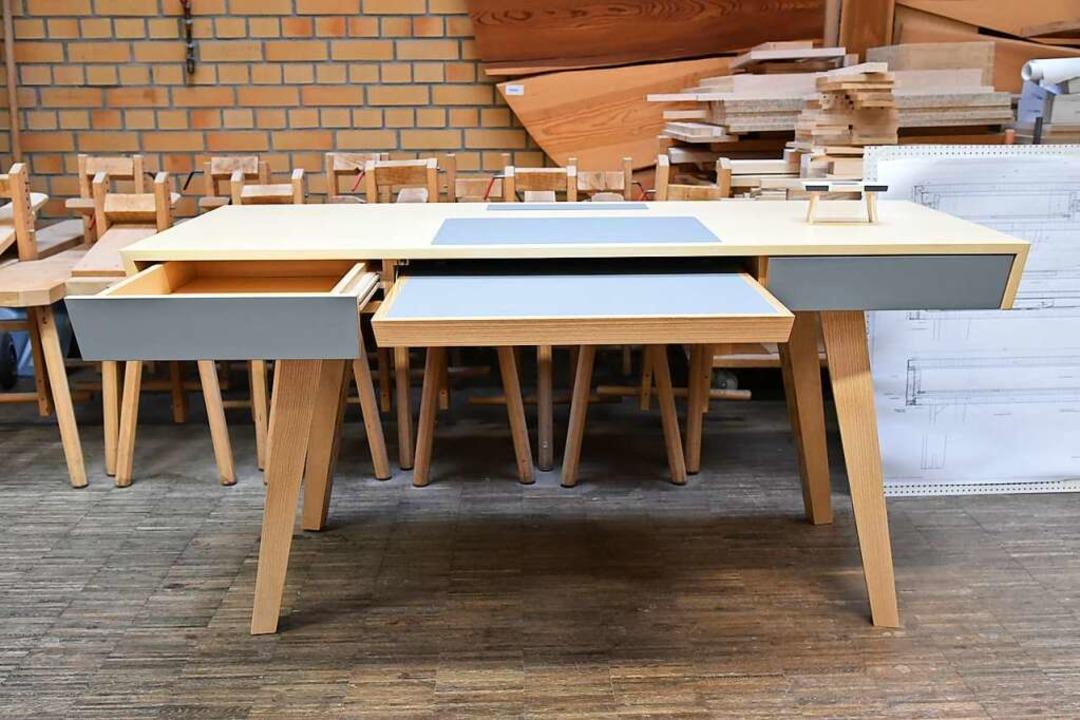 Ebenfalls auf Platz drei, der Schreibtisch von Felix Noelle.    Foto: Benedikt Sommer