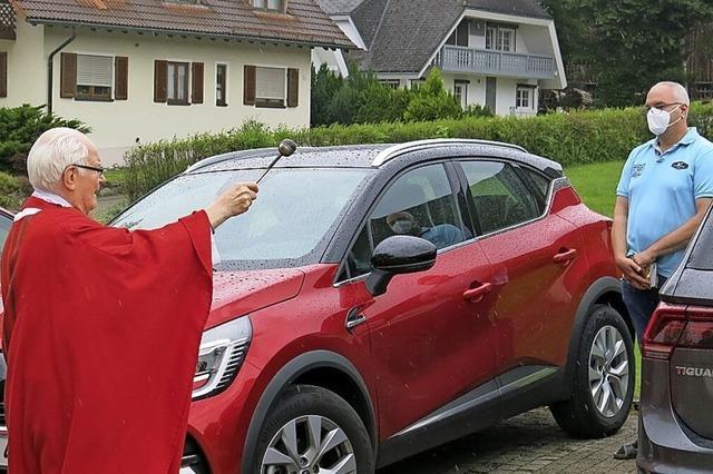 Erstmals Fahrzeugweihe am Christophorustag