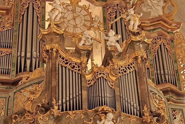 In der Barockkirche St. Peter finden internationale Orgelkonzerte statt