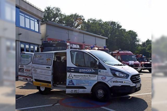 Unternehmen unterstützen die Feuerwehr