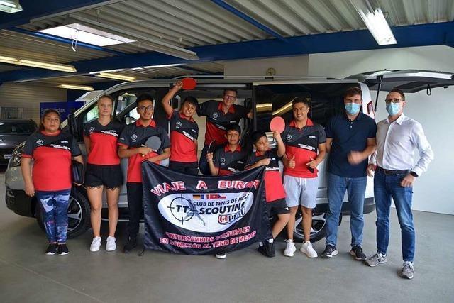 Weiler Verein ermöglicht vier jungen Tischtennis-Talenten aus Peru Europa-Aufenthalt