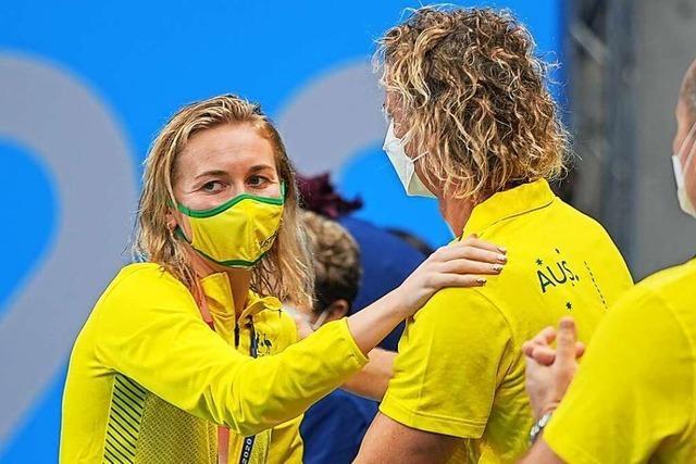 Australische Schwimmerin holt Gold – und ihr Trainer rastet aus