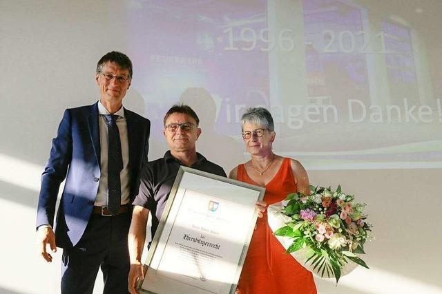 Hilmar Singler ist neuer Ehrenbürger von Kappel-Grafenhausen