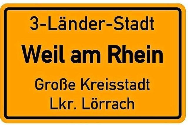 Sieht das Ortsschild von Weil am Rhein künftig so aus?