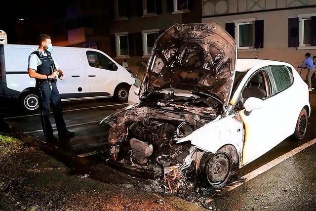Dritter Autobrand in acht Tagen in Lahr: Polizei hat eine heiße Spur